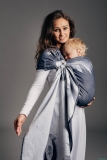 LennyLamb Ring Sling - řasený sklad - MOONLIGHT EAGLE