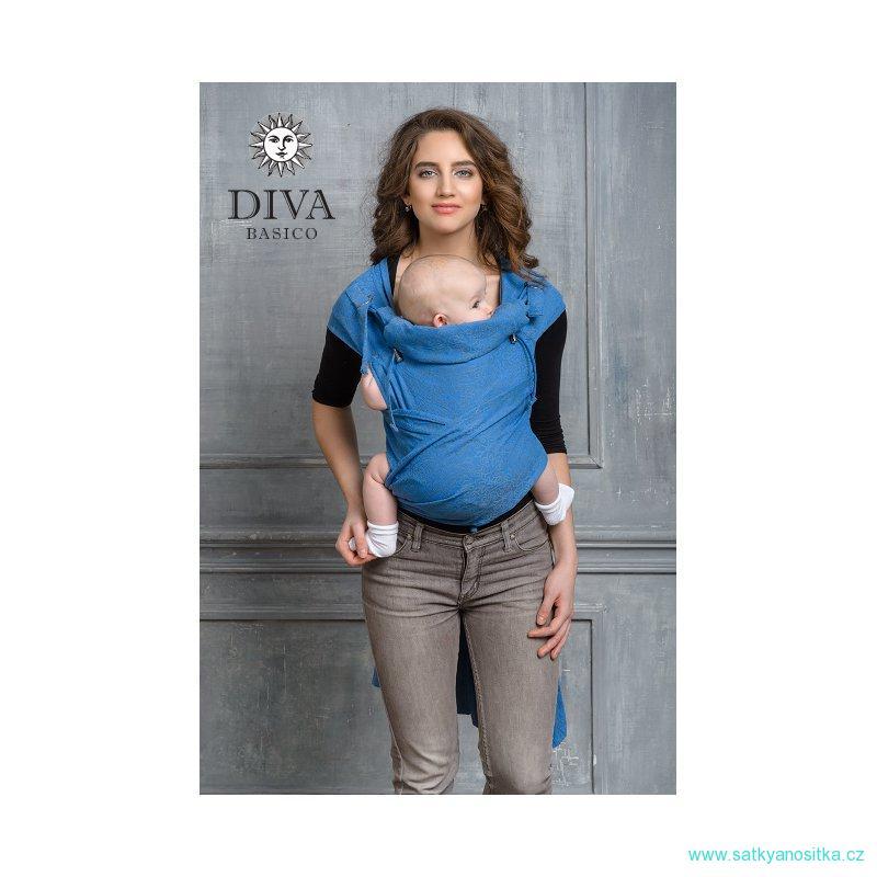 cc2326d60 Diva Milano Basico Mei Tai s kapucí 100% bavlna  Zaffiro