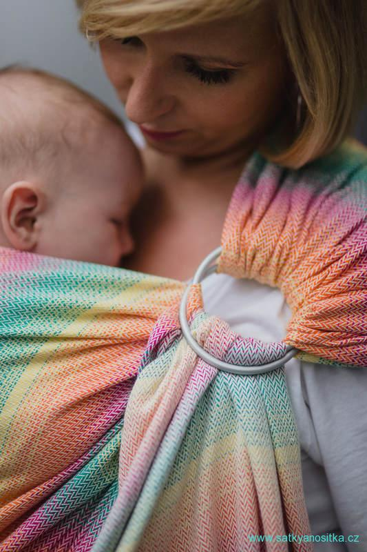 LennyLamb Ring Sling - řasený sklad -  LITTLE HERRINGBONE IMAGINATION