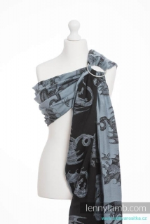 LennyLamb Ring Sling - řasený sklad BIG LOVE - DRAGON STEEL BLUE