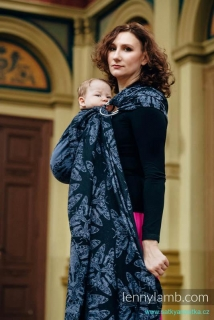 LennyLamb Ring Sling - řasený sklad QUEEN OF THE NIGHT