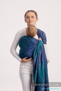 LennyLamb Ring Sling - řasený sklad - PEACOCK'S TAIL - PROVANCE