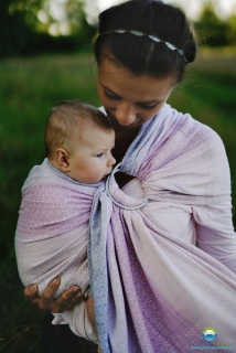 LittleFrog Ring Sling - 78% Bavlna, 22% Tencel - LOVELY LILAC 2m